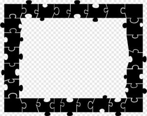 ramka z puzzli