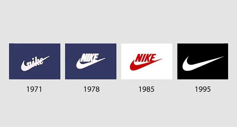 Ewolucja loga nike