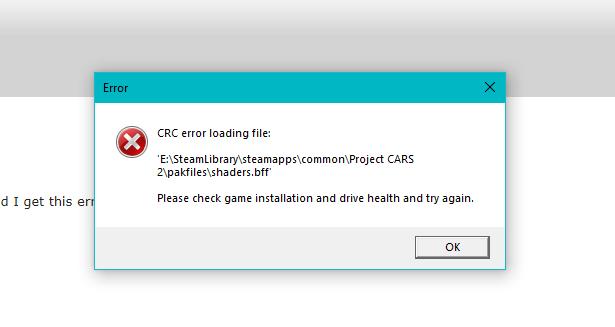 błąd Crc