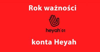 rok ważności konta heyah
