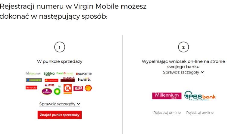 rejestracja karty virgin mobile